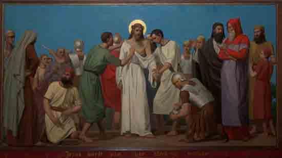 Kruisweg 10. Jezus wordt van Zijne kleederen ontdaan<br><br> 5010_Kruiswegstaatsies_4592.jpg