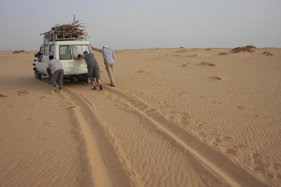 White-Desert Hulp van Sterke mannen !<br>The White Desert northeast of Farafra 0740-White-Dessert-near-Farafra-2518.jpg