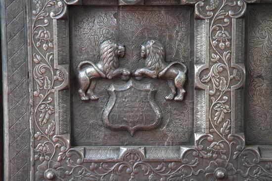 Amritsar2 Detail van gedecoreerde toegangspoort<br><br> 0260-Amritsar-Durgiana-tempel-2516.jpg