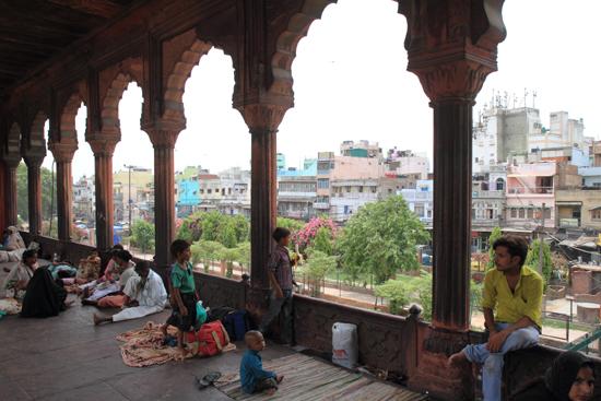 Ladakh-Delhi Uitzicht op Old-Delhi vanaf de Jama Mashid moskee<br><br> 4020-Jama-Mashid-Delhi-5187.jpg