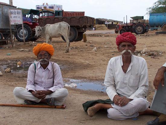 Jaisalmer Tafereel op truckers-plaats in de Thar woestijn Thar-Woestijn-Rajasthan_2889.jpg