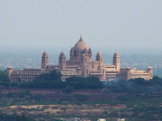 Jodhpur2 Uitzicht op het Umaid Bhawan Palace (1929-1942)