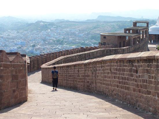 Jodhpur2 Uitzicht op de blauwe stad vanaf de vestingsmuur Vestingsmuur-Mehrangarh-Fort-Jodhpur_3209.jpg