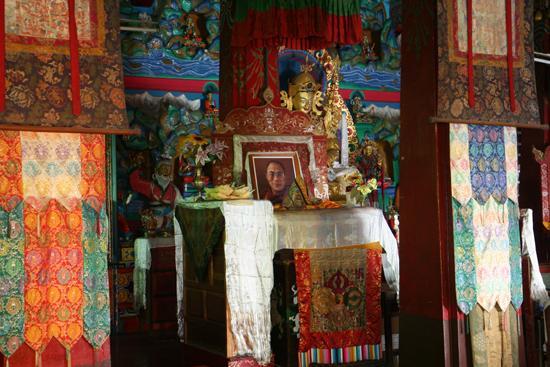 Kalimpong Foto van de Dalai Lama in Durpin Gompa - Kalimpong<br><br> 1200_4094.jpg