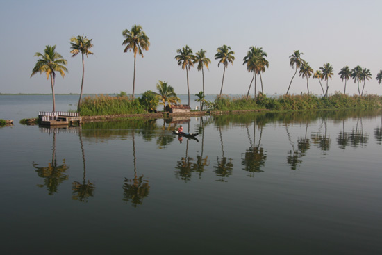 Backwaters Weerspiegelende palmen IMG_7303.jpg