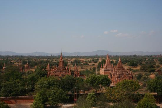 Bagan1 Uitzicht vanaf het hoogste dakterras van de Dhamma Ya Zi Ka Paya (1196)   1890_6073.jpg