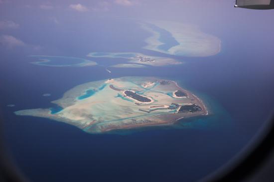 Fraai uitzicht tijdens een tussenlanding op het eiland Male van de Malediven-0010