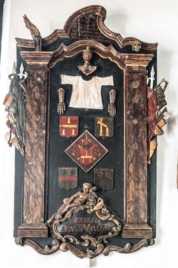Galle Nederlands Hervormde kerk  Grafmomument hangend aan de muur-0520