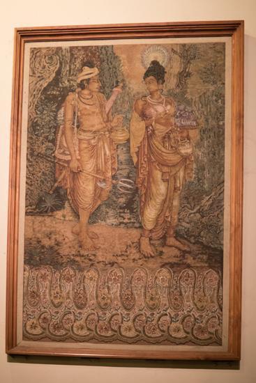 Kandy Tempel van de Tand  Een van de vele mooie schilderijen-2370