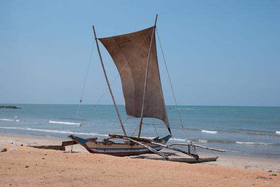 Negombo Vissersboot op het strand-4420