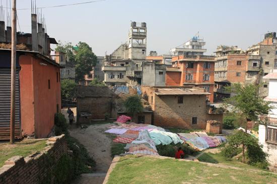 Kathmandu - Centrum Het drogen van de was-0020