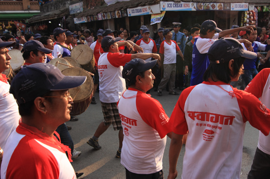 Politieke demonstratie in Patan (Lalitpur)-0690