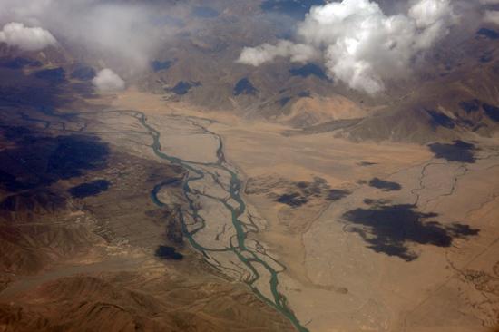 Prachtig uitzicht op de Himalaya tijdens de vlucht  van Kathmandu-Nepal naar Lhasa-Tibet-0740