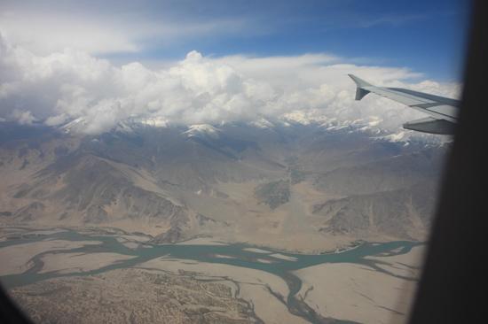 Prachtig uitzicht op de Himalaya tijdens de vlucht  van Kathmandu-Nepal naar Lhasa-Tibet-0770