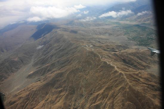 Prachtig uitzicht op de Himalaya tijdens de vlucht  van Kathmandu-Nepal naar Lhasa-Tibet-0790