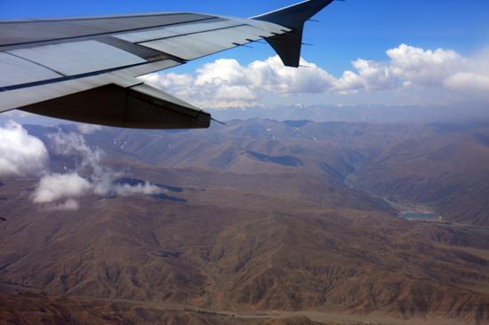 Prachtig uitzicht op de Himalaya tijdens de vlucht  van Kathmandu-Nepal naar Lhasa-Tibet-0810