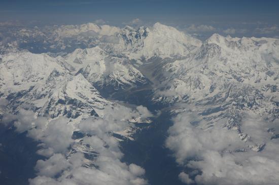 Prachtig uitzicht op de Himalaya tijdens de vlucht  van Kathmandu-Nepal naar Lhasa-Tibet-0840