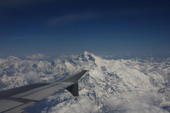 Prachtig uitzicht op de Himalaya tijdens de vlucht  van Kathmandu-Nepal naar Lhasa-Tibet-0860