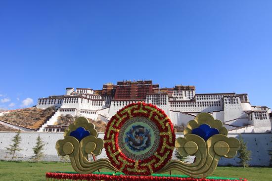 Potala Paleis in Lhasa Tibet-1050